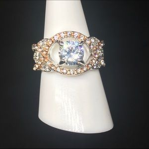 SS Morganatic & White Sapphire infinity ring